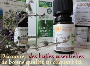 bannière huile essentielle