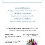 Conférences : des solutions naturelles aux affections ORL